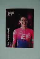 CYCLISME: CYCLISTE : EQUIPE EF EDUCATION 2019 Format 9 X 6.3 :JOE DOMBROWSKI - Ciclismo