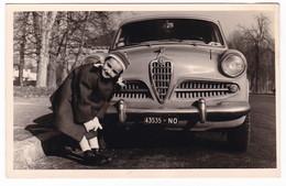 "AUTOMOBILE  ALFA ROMEO "" GIULIA ""   -  CAR - FOTO CARTOLINA ORIGINALE - Automobili"