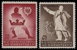 ~~~ Croatia 1942 - National Heroes - Mi. 91/92 ** MNH OG ~~~ - Kroatië