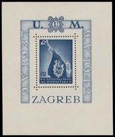 ~~~ Croatia 1942 - National Heroes - Mi. Block 3 A ** MNH OG - CV 40 Euro ~~~ - Kroatië