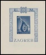 ~~~ Croatia 1942 - National Heroes - Mi. Block 3 B Imperf ** MNH OG - CV 40 Euro ~~~ - Kroatië