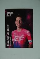 CYCLISME: CYCLISTE : EQUIPE EF EDUCATION 2019 Format 9 X 6.3 : SEBASTIAN LANGEVELD - Ciclismo