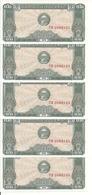 CAMBODGE 0.2 RIELS 1979 UNC P 26 ( 5 Billets ) - Cambodia