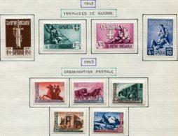 13710 SERBIE Collection Vendue Par Page (occupation Allemande) N° 68/71, 72/6 *   1943   B/TB - Serbien