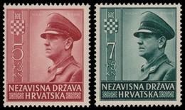 ~~~ Croatia 1943 - Pavelic - Mi. 100/101 ** MNH OG  ~~~ - Kroatië