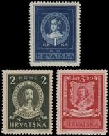 ~~~ Croatia 1943 - Poets And Writers - Mi. 103/105 ** MNH OG  ~~~ - Kroatië