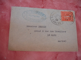 Torce 72 Facteur Boitier Obliteration Sur Lettre - 1921-1960: Période Moderne