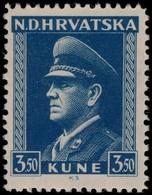 ~~~ Croatia 1943 - Pavelic - Perf 11½  - Mi. 106 ** MNH OG  ~~~ - Kroatië