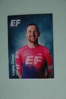 CYCLISME: CYCLISTE : EQUIPE EF EDUCATION 2019 Format 9 X 6.3 :LOGAN OWEN - Ciclismo