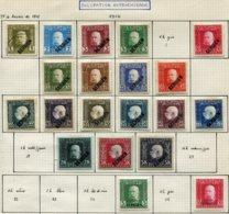 13713 SERBIE Collection Vendue Par Page (occupation Autrichienne) N°1/4, 6/16, 18/20, 25, 27  *   1941-42   B/TB - Serbie