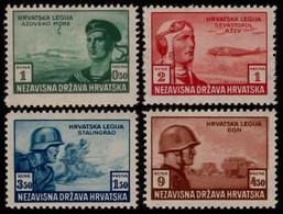 ~~~ Croatia 1943 - Army Aviaton -  Mi. 107/110 ** MNH OG  ~~~ - Kroatië