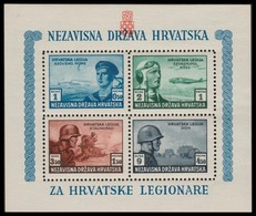 ~~~ Croatia 1943 - Army Aviaton -  Mi. Block 5 A ** MNH OG  ~~~ - Kroatië