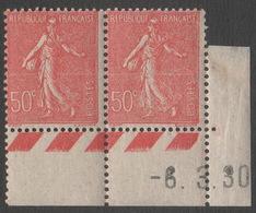 France Neufs Sans Charnière 1928  Semeuse Coin Daté 6.3.30  YT  CD 199 - ....-1929