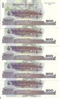 CAMBODGE 100 RIELS 2001 UNC P 53 ( 5 Billets ) - Cambodja