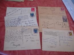 Lot De 9 Gouffre De Padirac Obliteration Recette Auxiliaire Flamme A Voir - Marcophilie (Lettres)