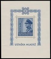 ~~~ Croatia 1943 - Pavelic -  Mi. Block 4 A  ** MNH OG - CV 35 Euro  ~~~ - Kroatië