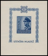 ~~~ Croatia 1943 - Pavelic -  Mi. Block 4 B Imperf  ** MNH OG - CV 35 Euro  ~~~ - Kroatië