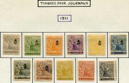 13706 SERBIE Collection Vendue Par Page  Journaux N°1/11   */ ° 1911   B/TB - Serbie