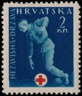 ~~~ Croatia 1943 - Red Cross Postal Tax -  Mi. ZS2 ** MNH OG  ~~~ - Kroatië