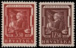 ~~~ Croatia 1943 - Boskovic Science -  Mi. 148/149 ** MNH OG  ~~~ - Kroatië