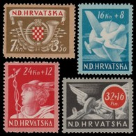 ~~~ Croatia 1944 - Communication Transportation -  Mi. 150/153 ** MNH OG  ~~~ - Kroatië