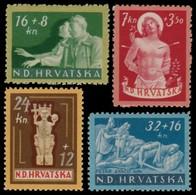 ~~~ Croatia 1944 - War Victims -  Mi. 154/157 ** MNH OG  ~~~ - Kroatië