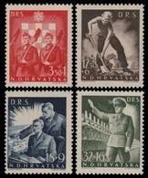 ~~~ Croatia 1944 - Military And War WWII -  Mi. 162/165 ** MNH OG  ~~~ - Kroatië
