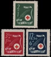 ~~~ Croatia 1944 - Red Cross -  Mi. 167/169 ** MNH OG  ~~~ - Kroatië