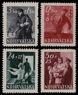 ~~~ Croatia 1945 - Postal Srvices PTT -  Mi. 173/176 ** MNH OG  ~~~ - Kroatië