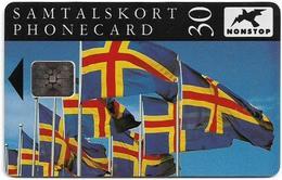 Aland - Åland Post - Flag Of Åland - SC5, 12.1992, 30mk, 15.000ex, Used - Aland