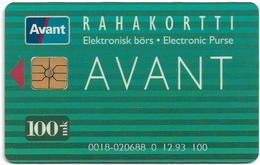 Finland - AVANT - Public Card Info 0800 (Green) 100mk, (Batch. 0018 - 020688) 12.1993, 15.000ex, Used - Finland