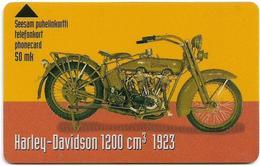 Finland - Turku Telephone (Turun) - Magnetic - Harley Davidson 1923 - Cn. 8050 - Exp. 12.2000, 3.800ex, Used - Finland