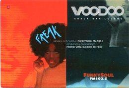 VOODOO SNACK BAR LOUNGE, FUNKSOUL FM. ARGENTINA POSTAL PUBLICIDAD CIRCA 2000's NO CIRCULADO - LILHU - Música Y Músicos