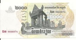 CAMBODGE 2000 RIELS 2007 UNC P 59 - Cambodge
