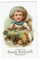 Chromo Chocolats Pelerin Ruelle & Co - Bruxelles - Chocolat  - 2 Scans - Chocolate