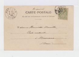 Sur CPA D'Azazga Pour Mascara CAD Mascara Oran 1903 Sur Type Blanc. (3129) - Algérie (1924-1962)