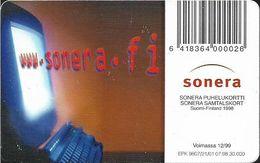 Finland - Sonera - Push Buttons - 07.1998, 50mk, 30.000ex, Used - Finland