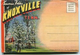 KNOXVILLE, SOUVENIR FOLDER. TENNESSEE AND NORRIS DAM. U.S.A. PHOTOSET WITH NINE COLOR PHOTOS CIRCA 1960's  - LILHU - Knoxville