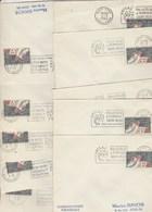 Lot Collection De 10 Bureaux Alphabet A Ajaccio à D Dijon Ayant Utilisé La Flamme  PHILATEC  1964 Voir Description - Postmark Collection (Covers)