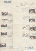 Lot Collection De 10 Bureaux Alphabet E Evreux à M Marseille Ayant Utilisé La Flamme  PHILATEC  1964 Voir Description - Postmark Collection (Covers)