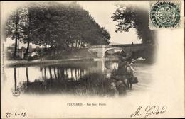 Cp Frouard Meurthe Et Moselle, Die Zwei Brücken - France