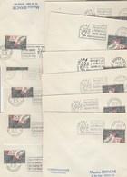 Lot Collection De 11 Bureaux Alphabet M Metz à T Toulouse Ayant Utilisé La Flamme  PHILATEC  1964 Voir Description - Postmark Collection (Covers)