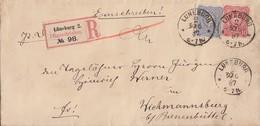 DR R-Brief Mif Minr.41, 42 K1 Lüneburg 30.6.87 Gel. Nach K1 Bienenbuettel - Duitsland