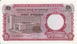 NIGERIA 1 POUND ND1967 AUNC P 8 - Nigeria