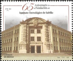 J) 2016 MEXICO, FRONT DOOR-SCHOOL BUILDING, 65th ANNIVERSARY OF THE FOUNDATION OF SALTILLO'S TECHNOLOGY INSTITUE, MNH - Mexico