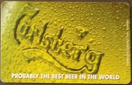 Telefonkarte Griechenland - 08/01 - Carlsberg Beer ,Bier (1) - Greece