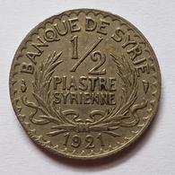 PIECE - SYRIE - G.4 - BANQUE DE SYRIE - 1/2 PIASTRE SYRIENNE - 1921 - PATEY - BILINGUE FRANCO/ARABE - Syria