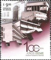 J) 2016 MEXICO, SCHOOL BUILDINGS, EMBLEM, 100 YEARS OF ESIME INSTITUTO POLITECNICO NACIONAL (NATIONAL POLYTECHNIC INSTIT - Mexico