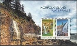 Norfolk Island 2017 Bloc Feuillet Cascades Neuf ** - Ile Norfolk