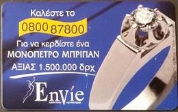 Telefonkarte Griechenland - 09/01 - Werbung - Schmuck - Greece